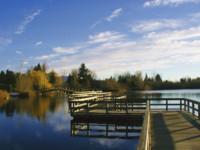Photo: 7-Walking across Mill Lake
