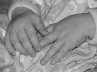 Photo: 14-Baby Hands (Black and White)