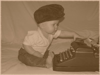 Photo: 17- Baby Typing
