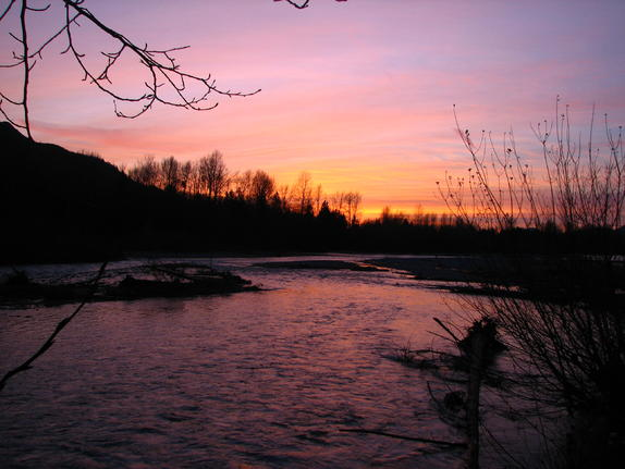 44-Vedder River Sunset