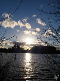 Photo: 51- Sunrays across Mill Lake