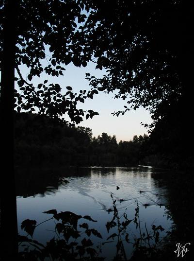 43- Fish Trap Creek at dusk